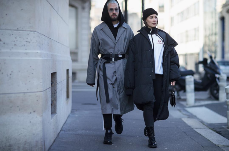 street style off white coat gosha rubchinskiy