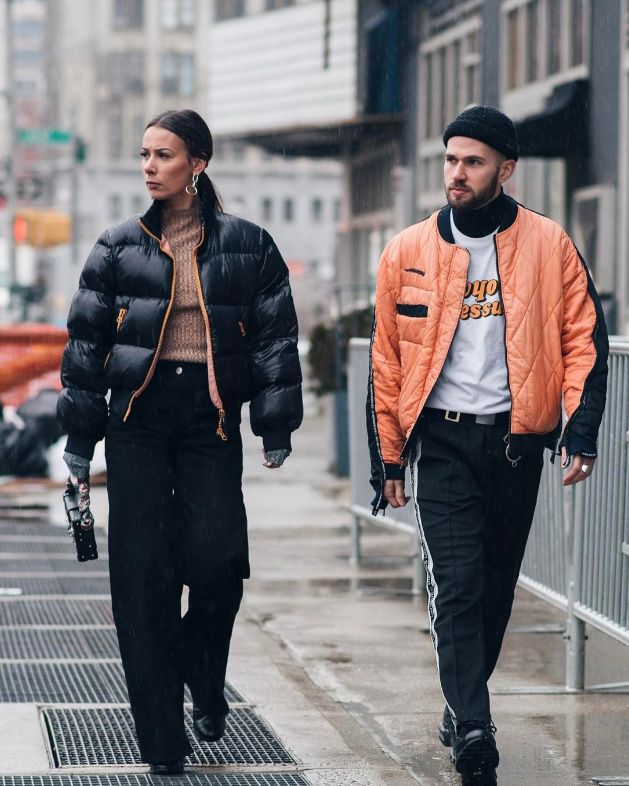 fashion week street style couple