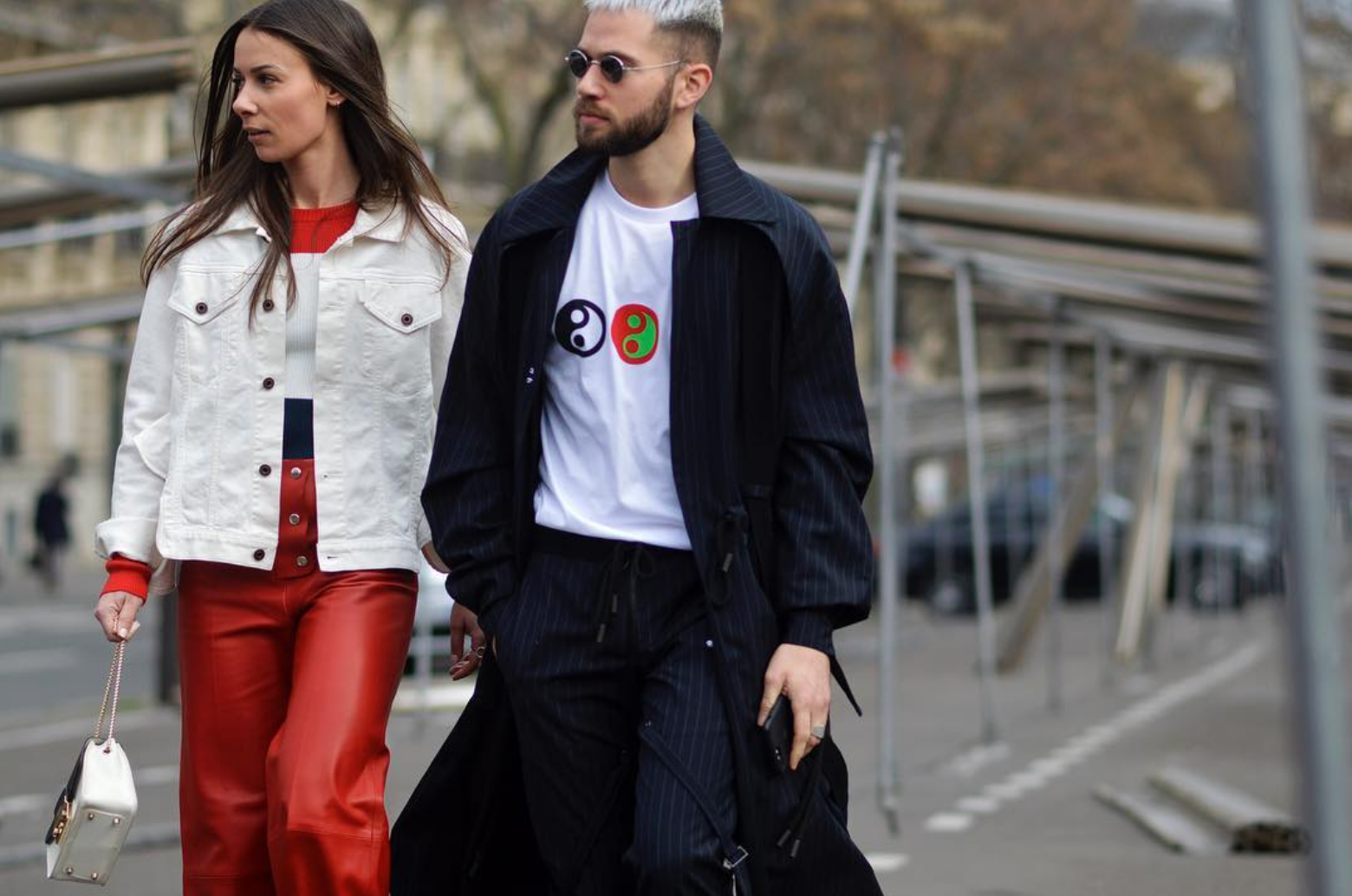 couple street style fashion week