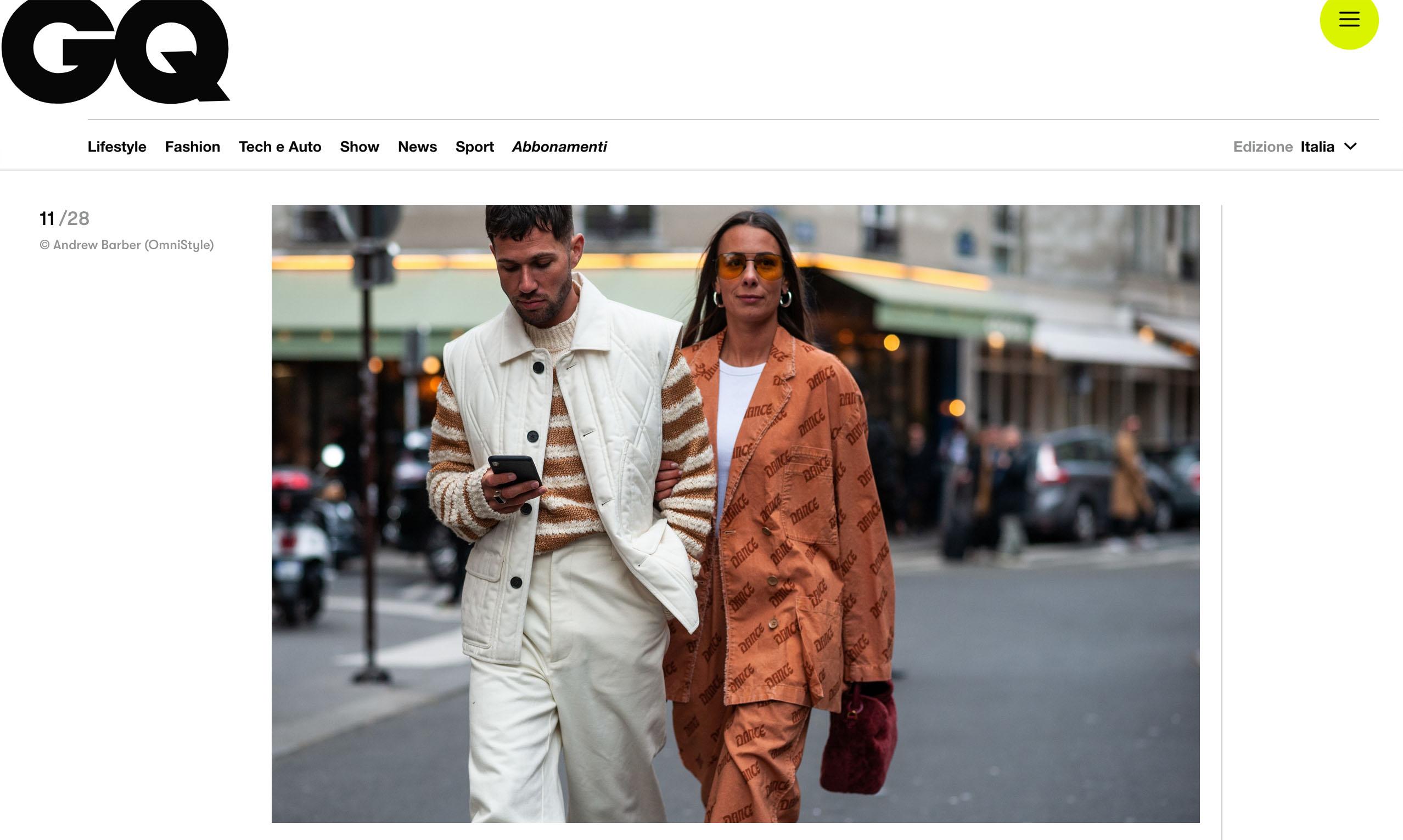 GQ italia street style fashion couple