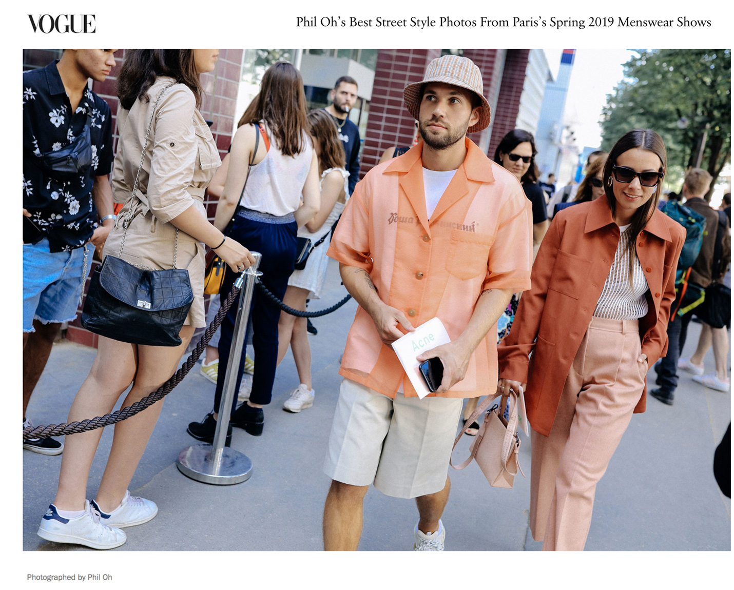 Phil Oh vogue street style