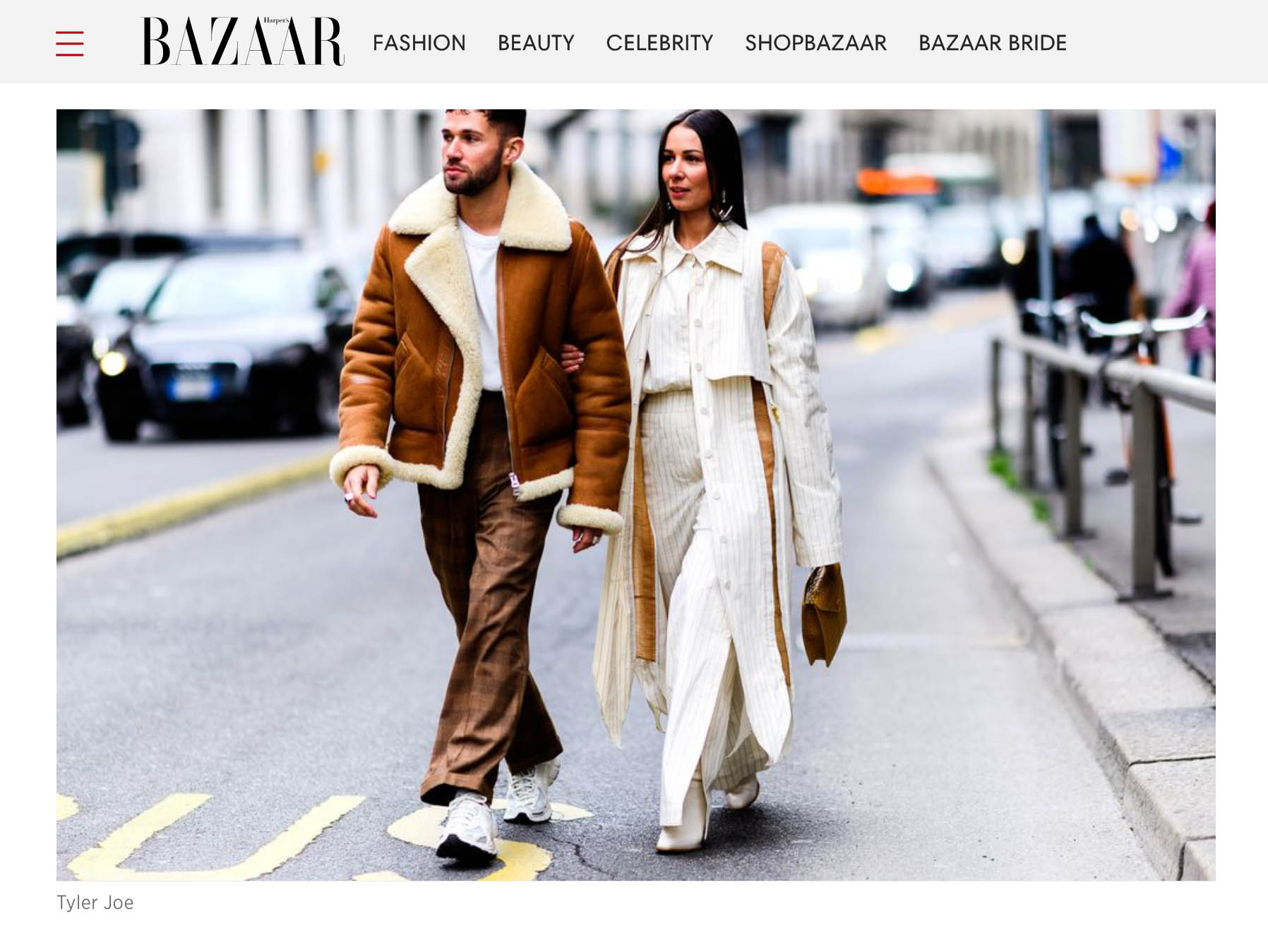 bazaar street style fashion week milano couple