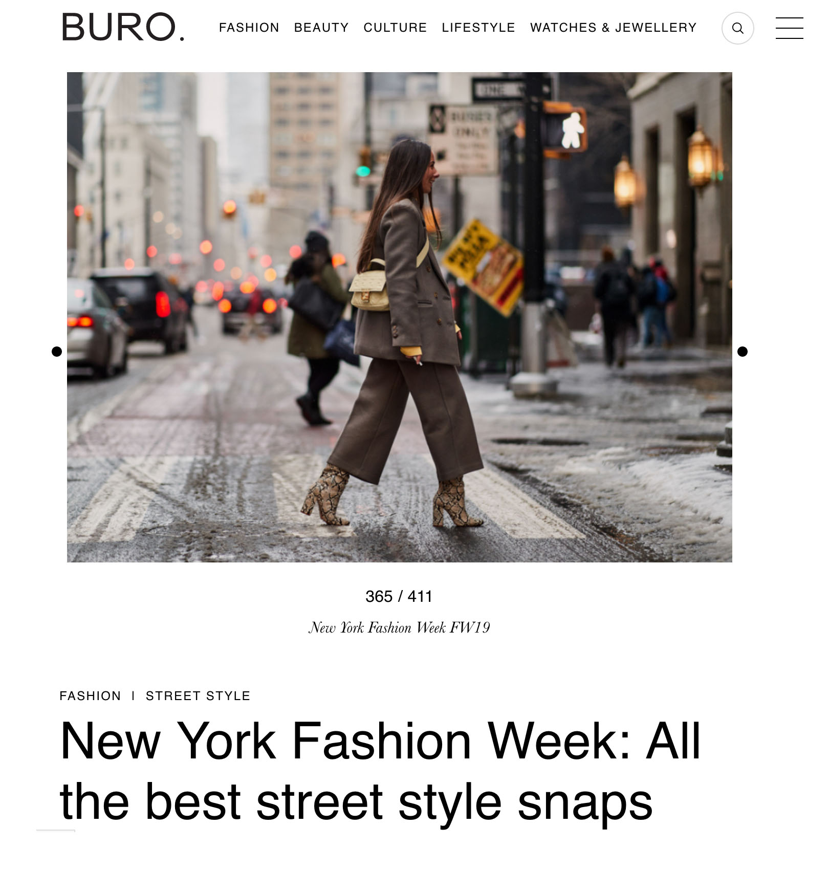 buro street style fashion week