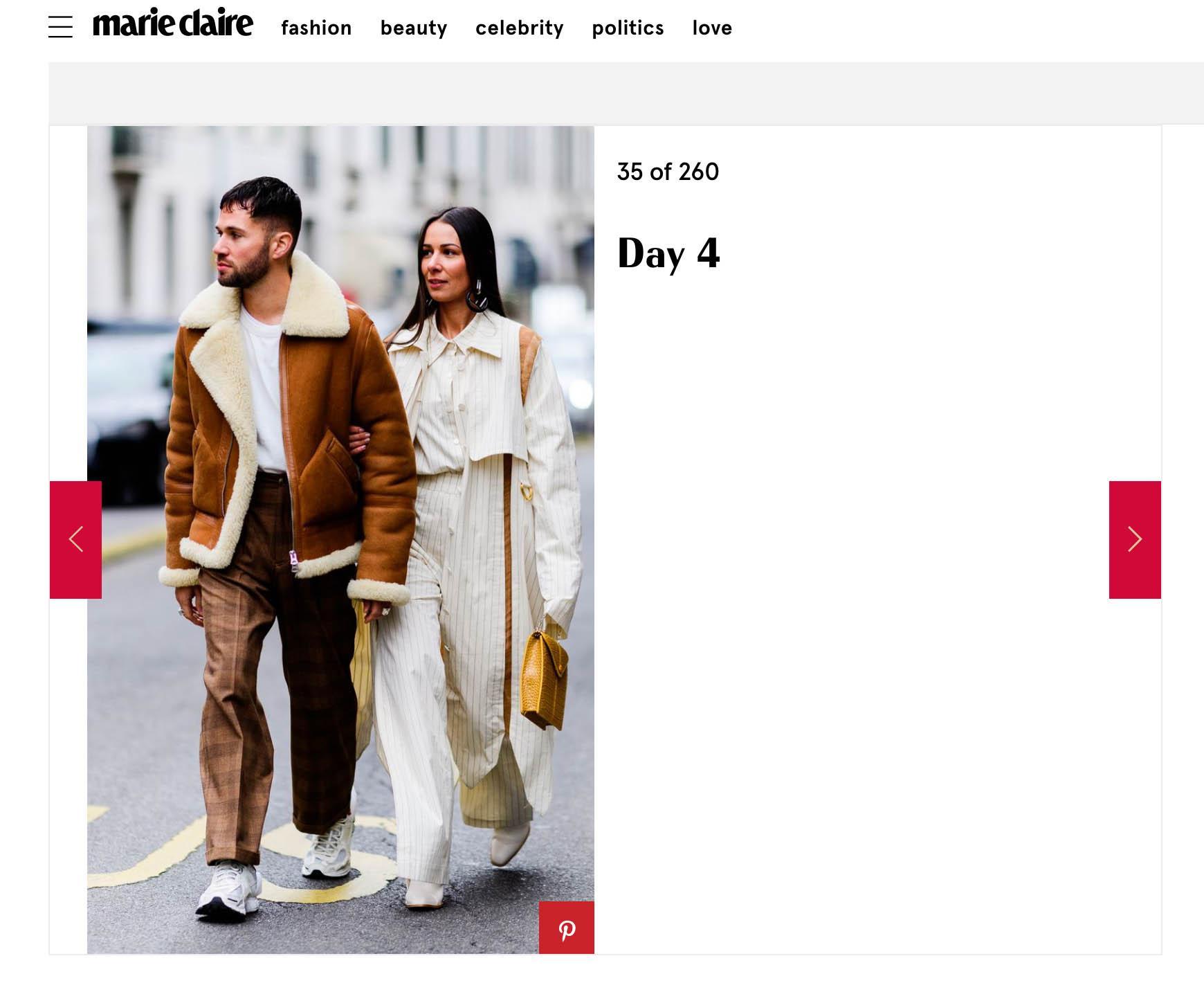 couple streetstyle fashion week Alice et js