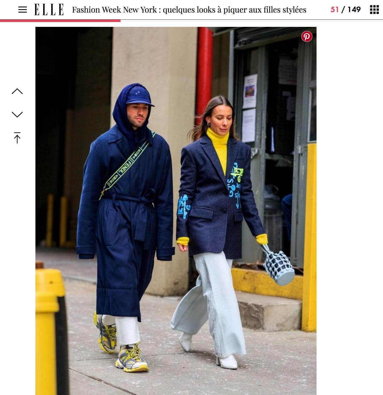 elle stree style fashion week