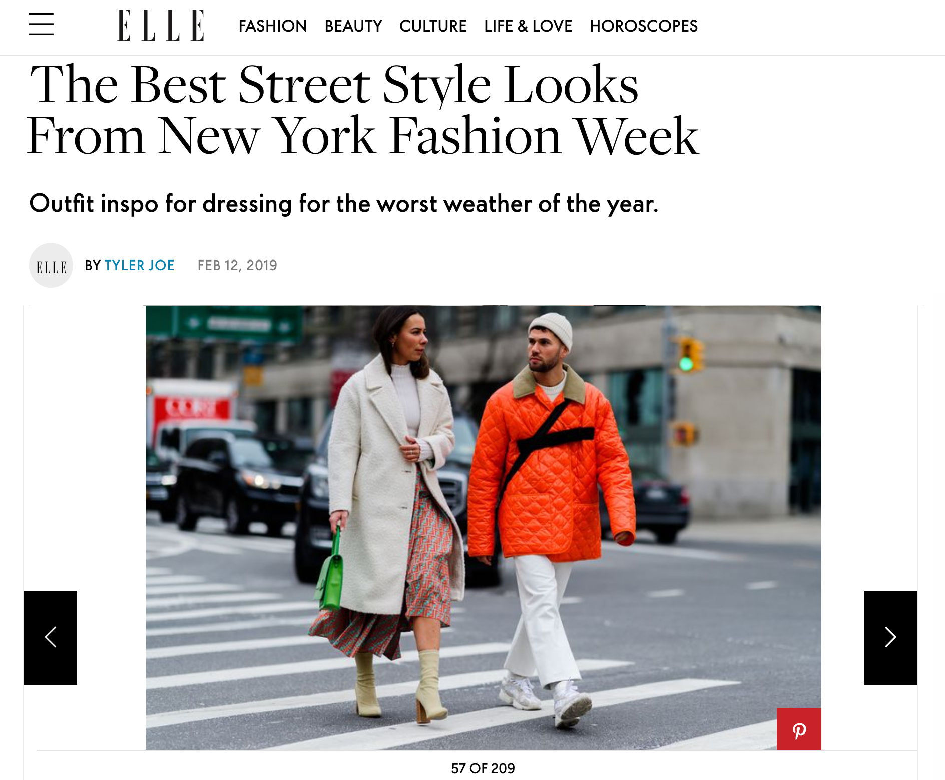 elle street style fashion week