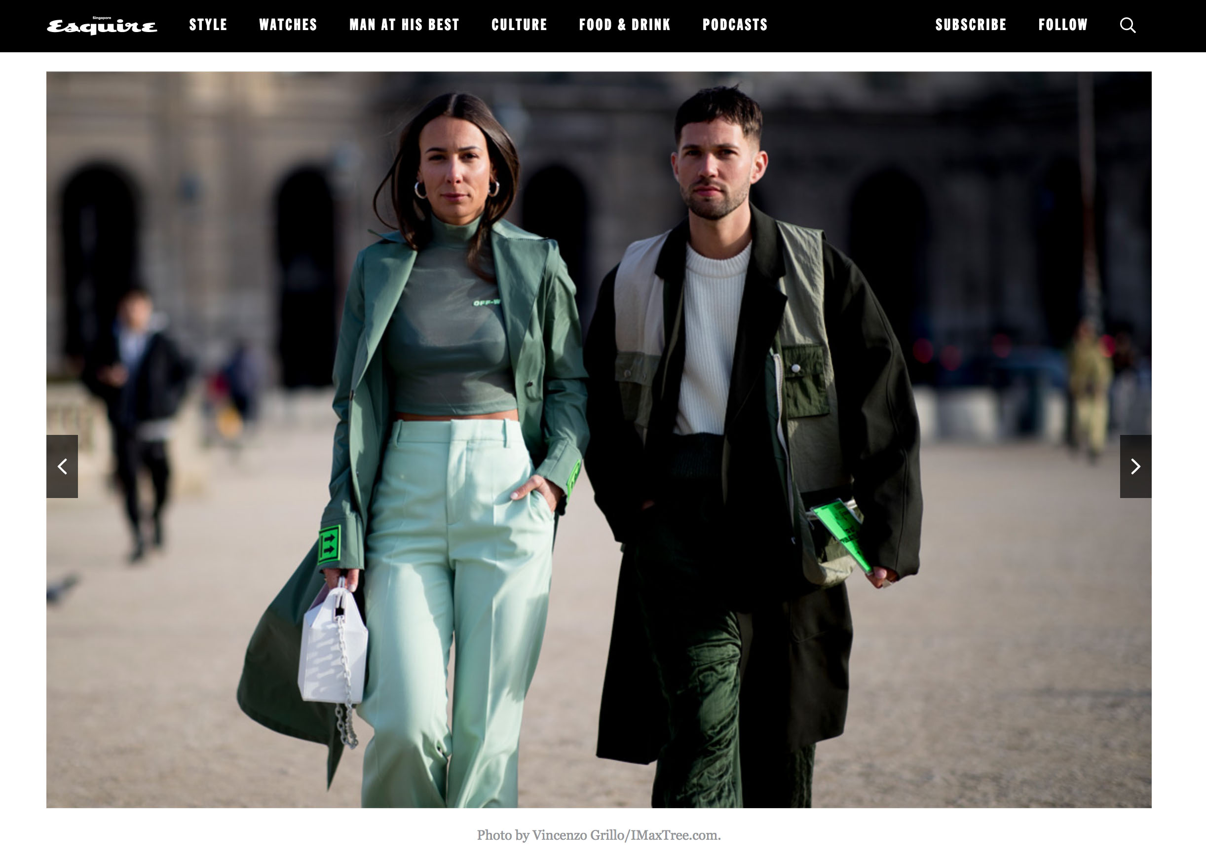 esquire spain street style couple pfw