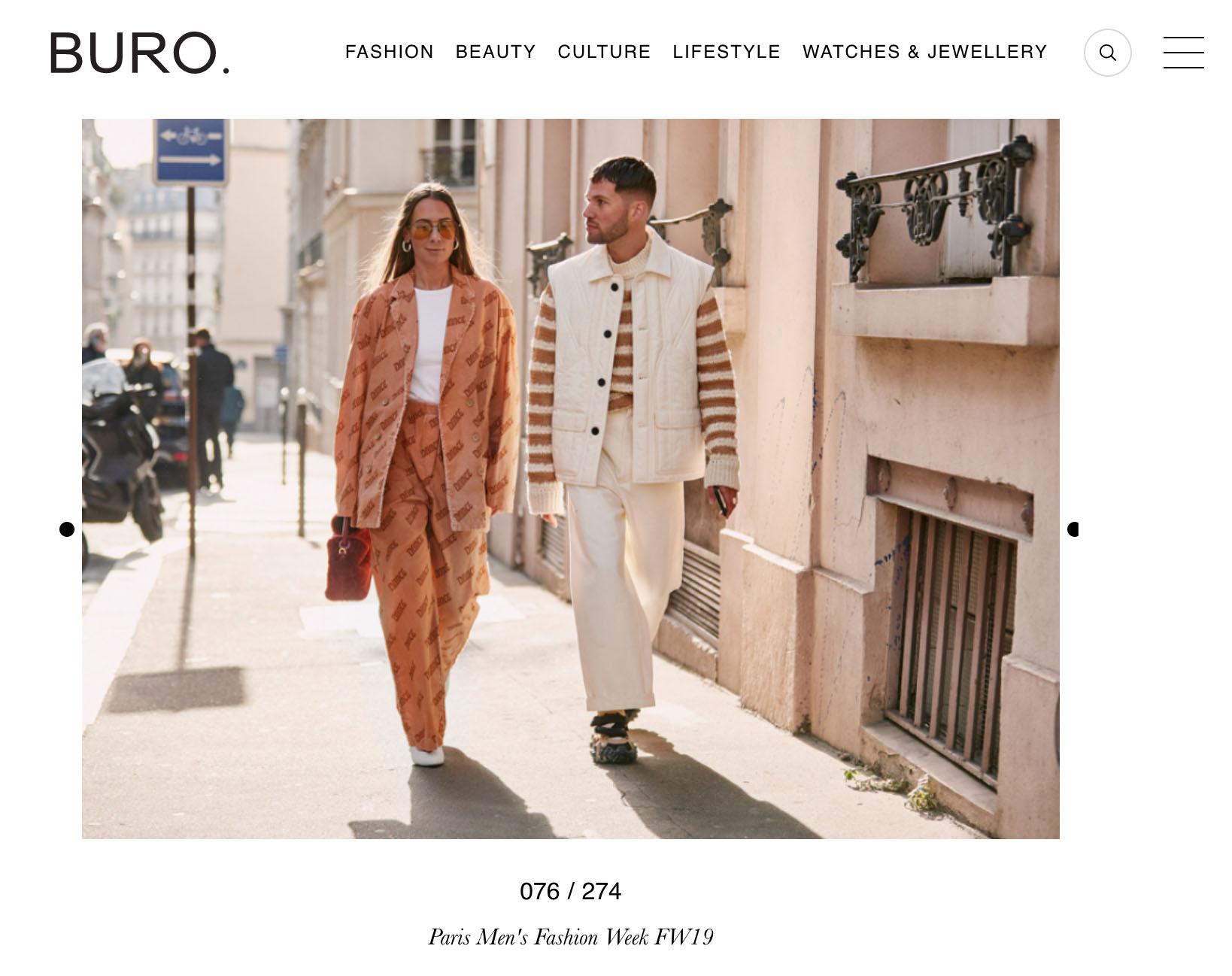 fashion week street style couple