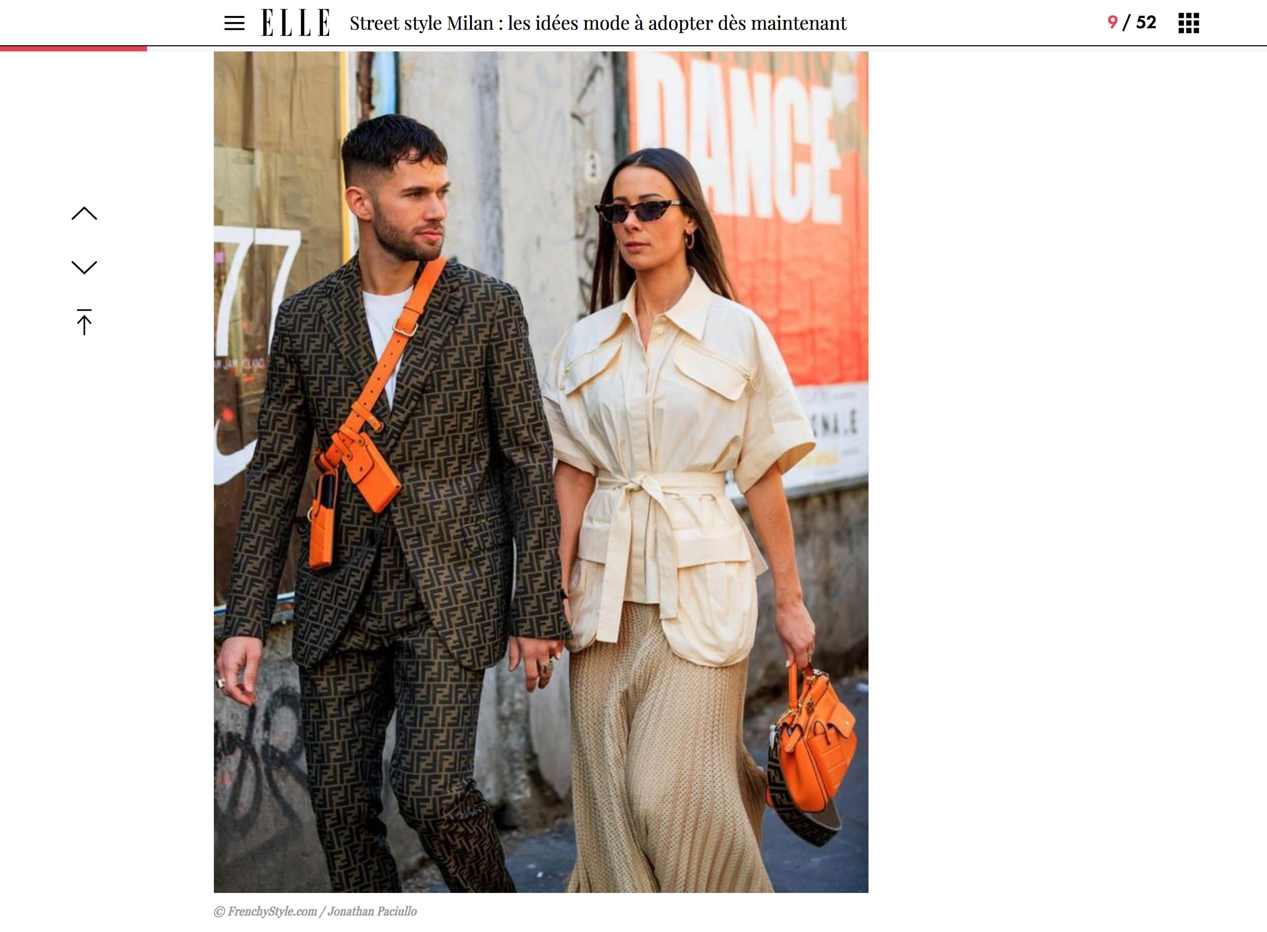 fendi street style couple fashion milano week