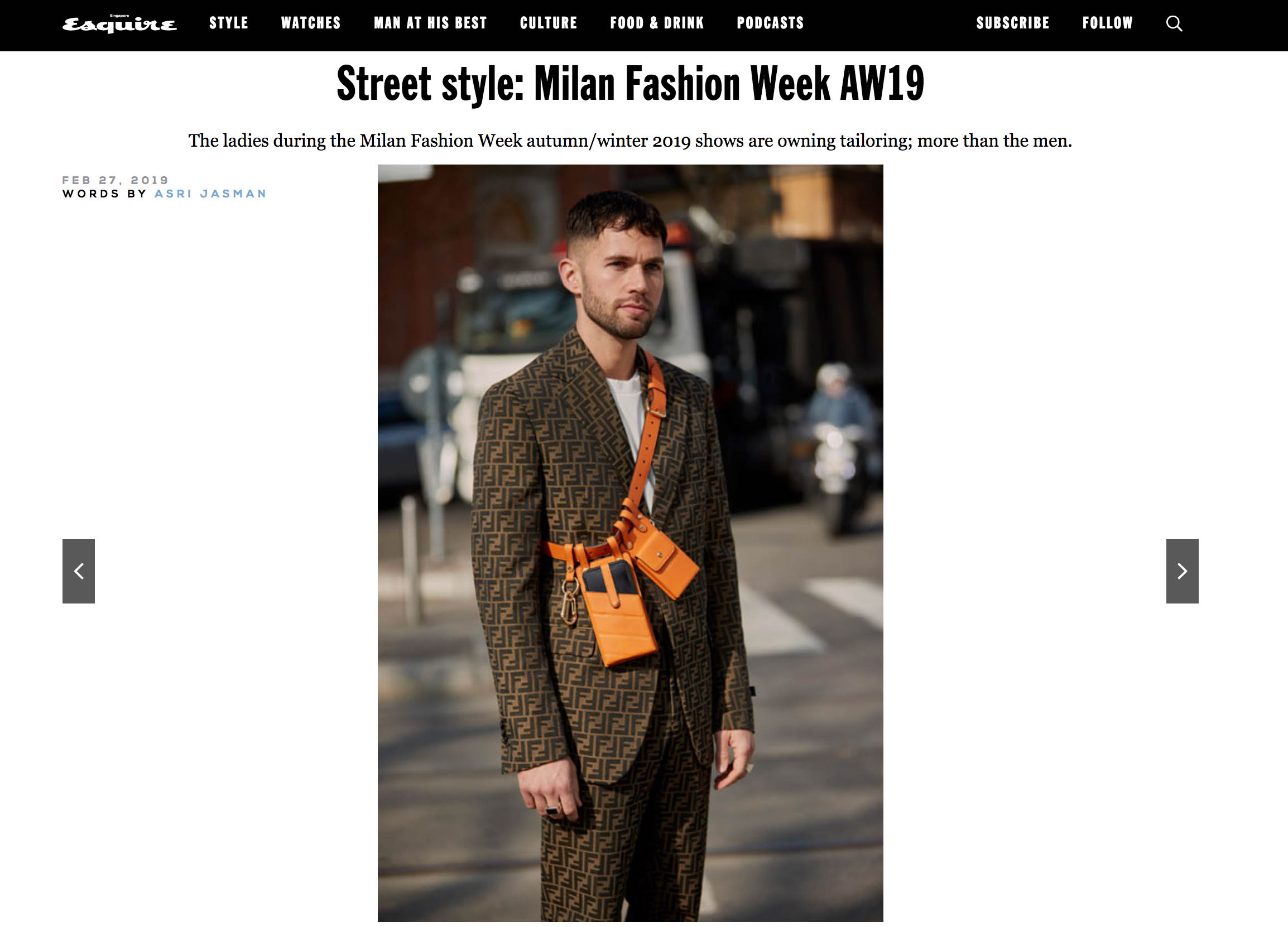 fendi street style fashion week