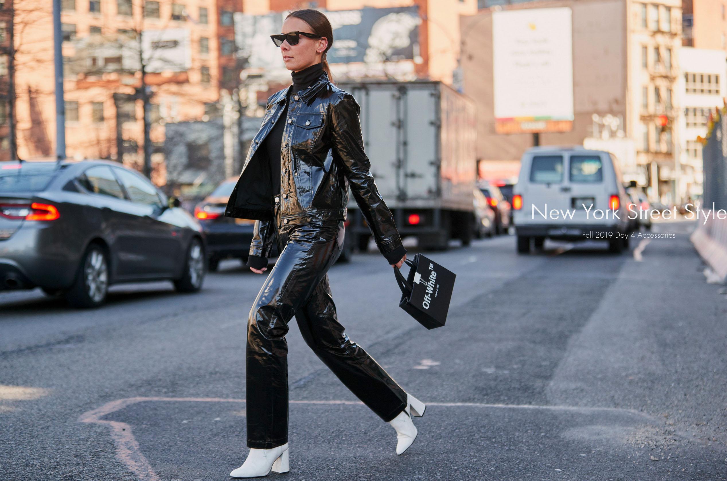 glossy black pants