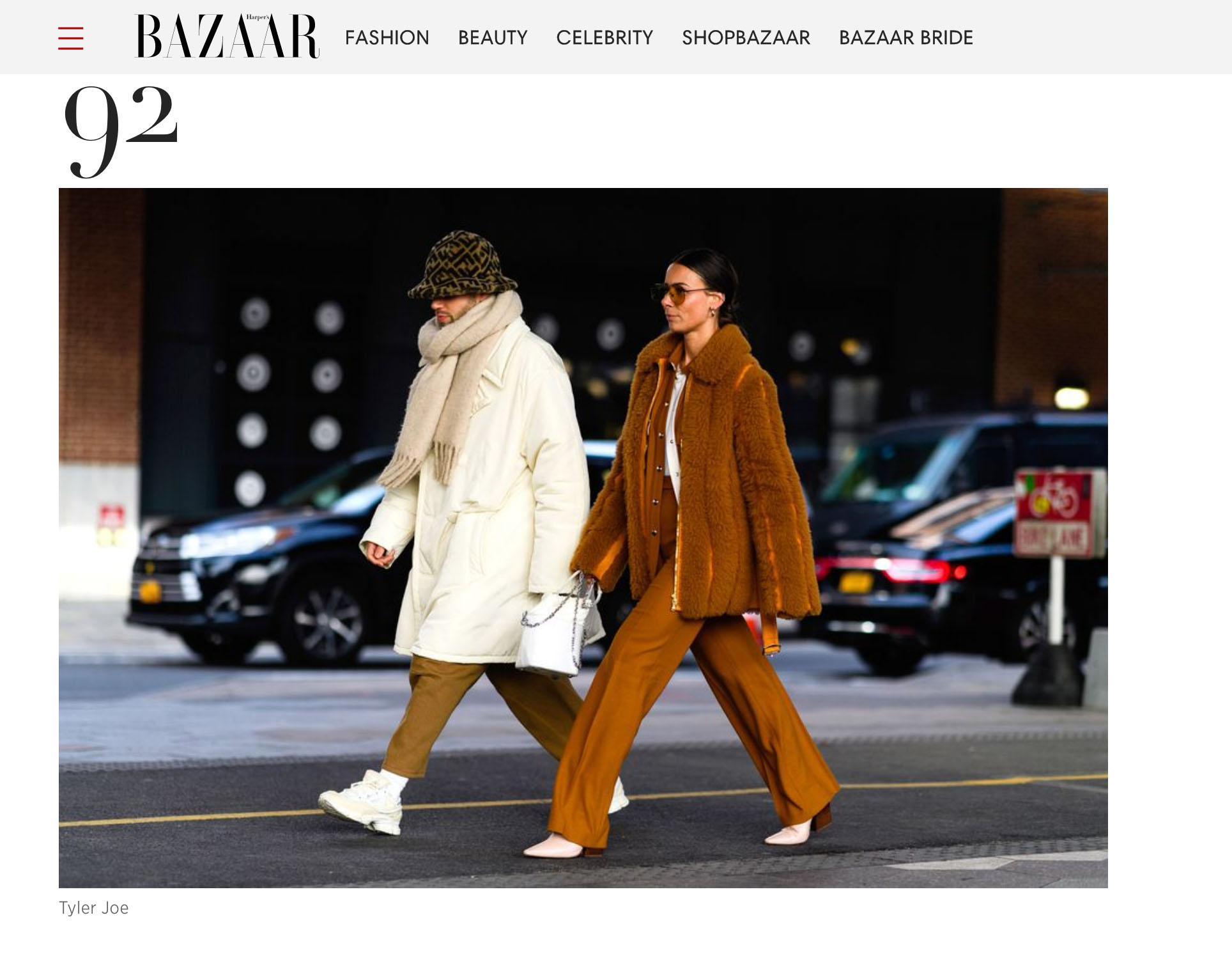 harpers bazaar street style fashion couple nyfw