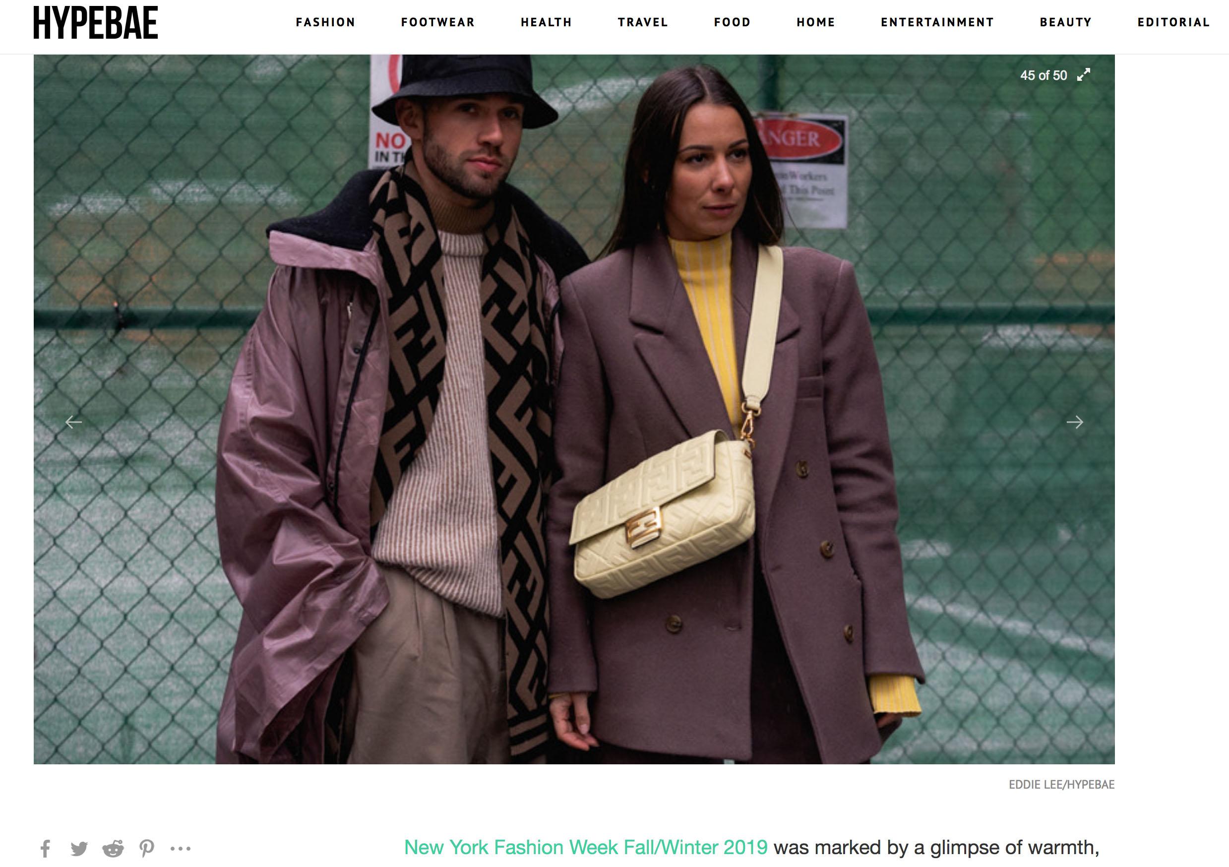 hypebae street style couple fashion week