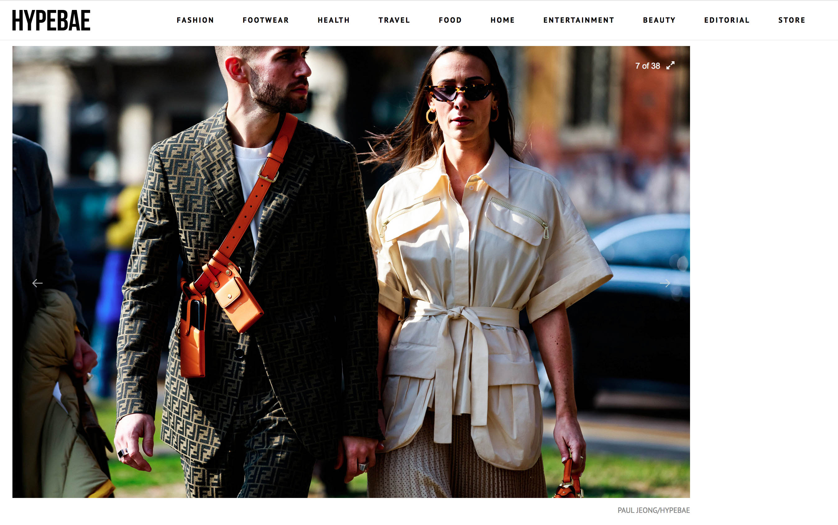 hypebae street style fashion week couple