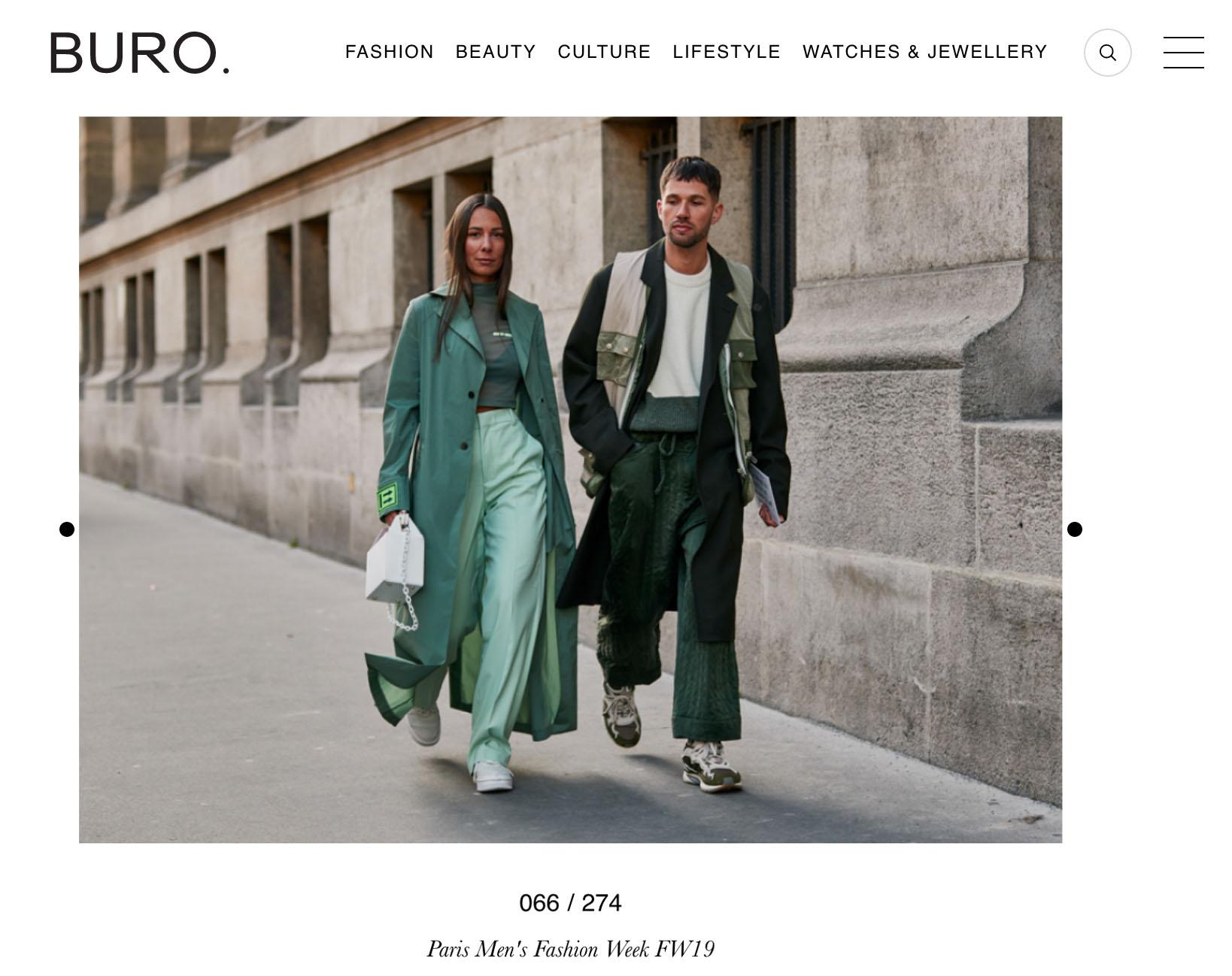 paris fashion week street style couple