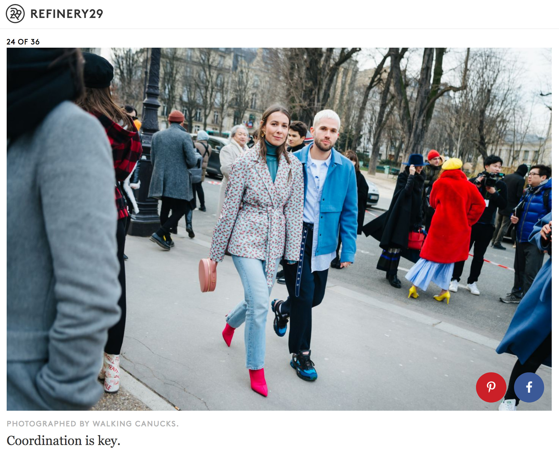 refinery 29 walking canucks street style
