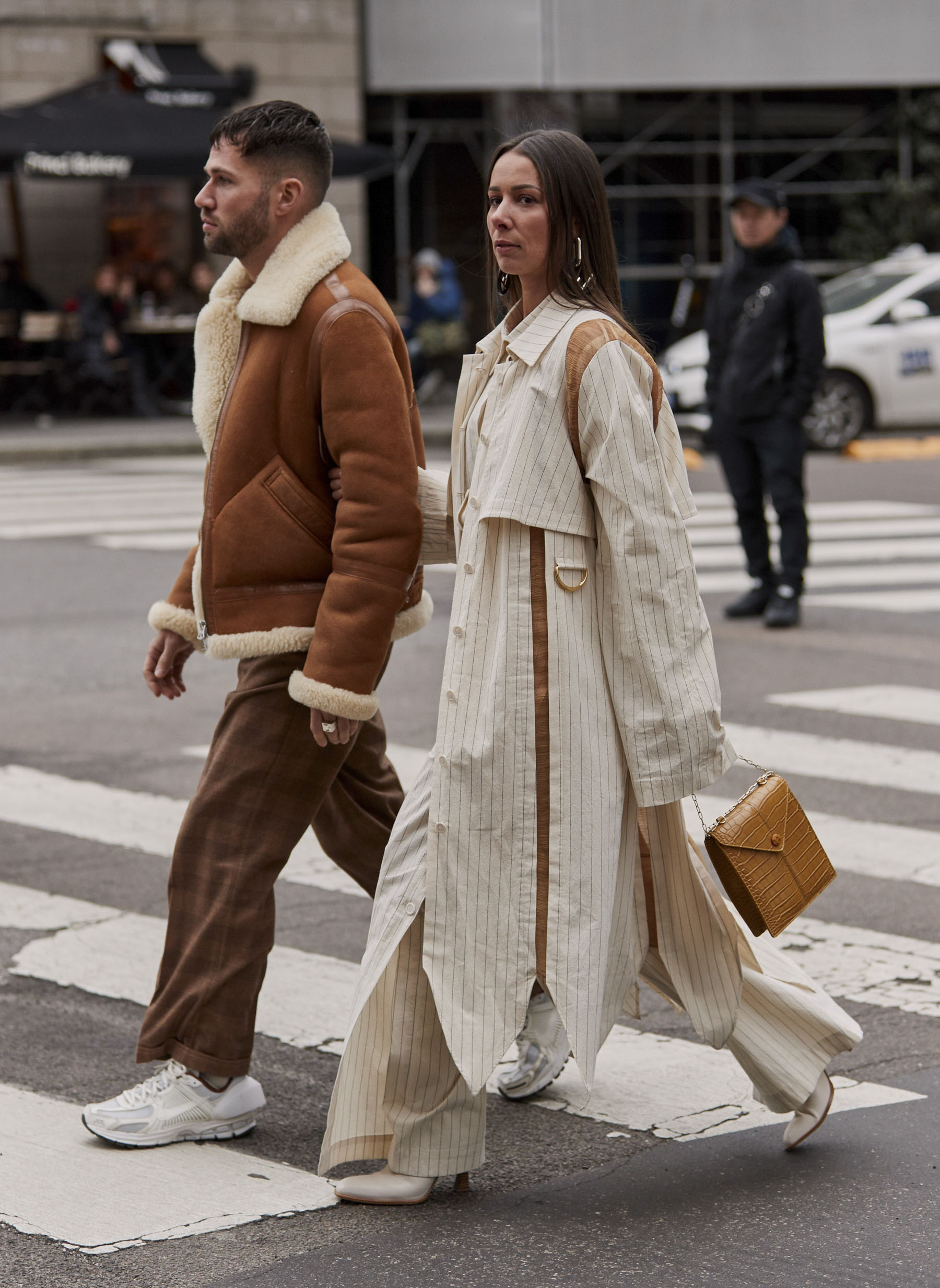 street style fashion week couple 2 goals
