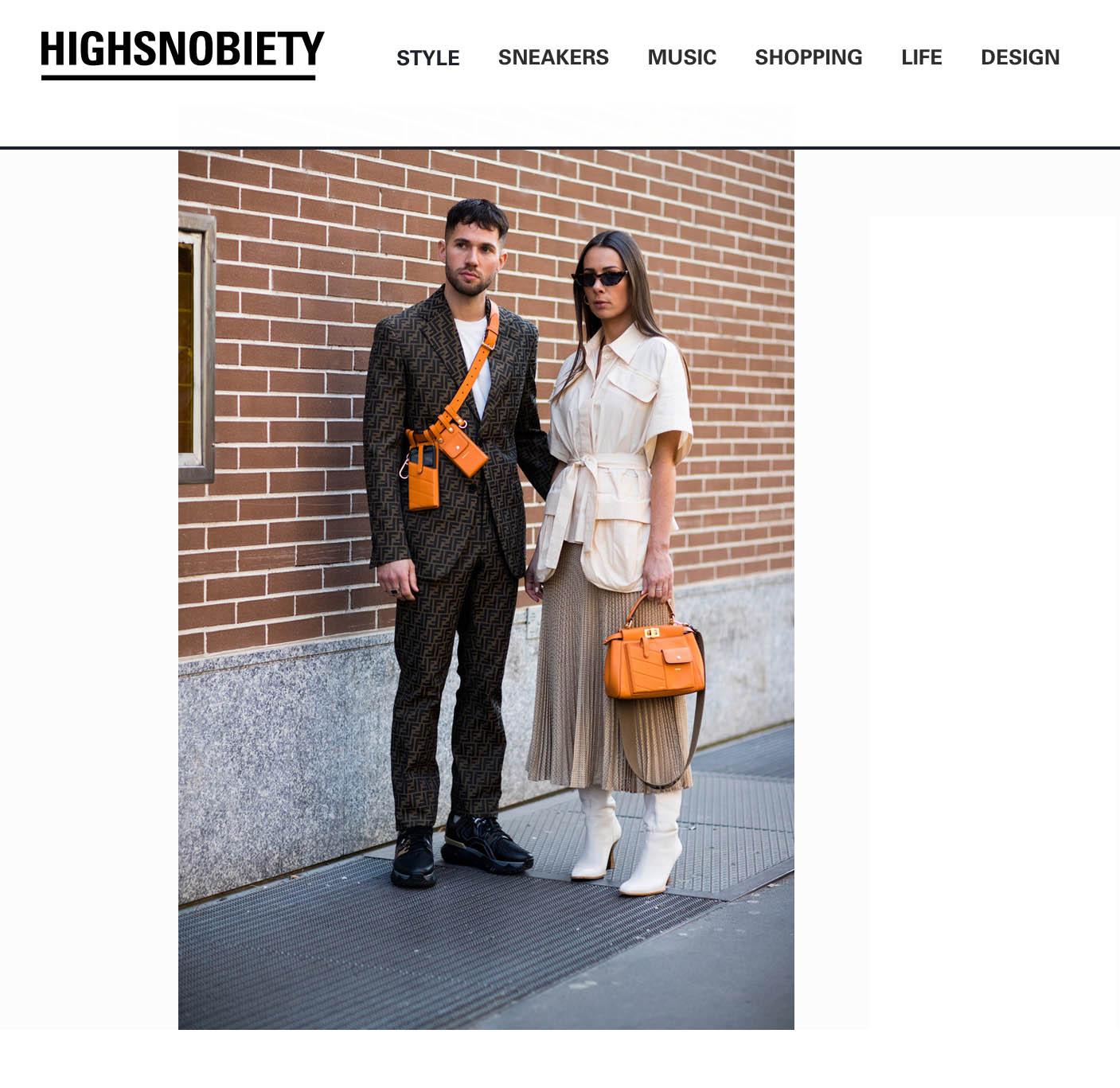 street style fashion week milan couple fendi