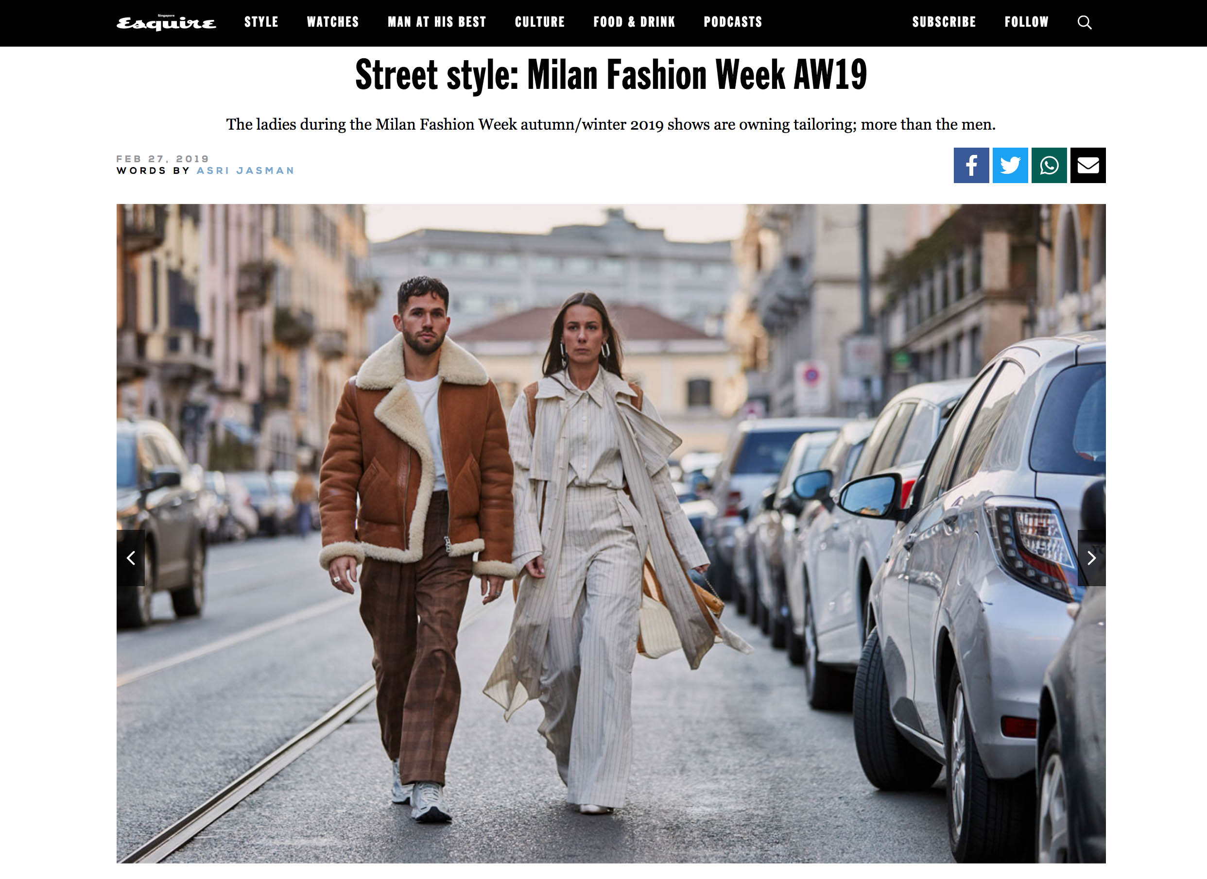 street style fashion week milano couple