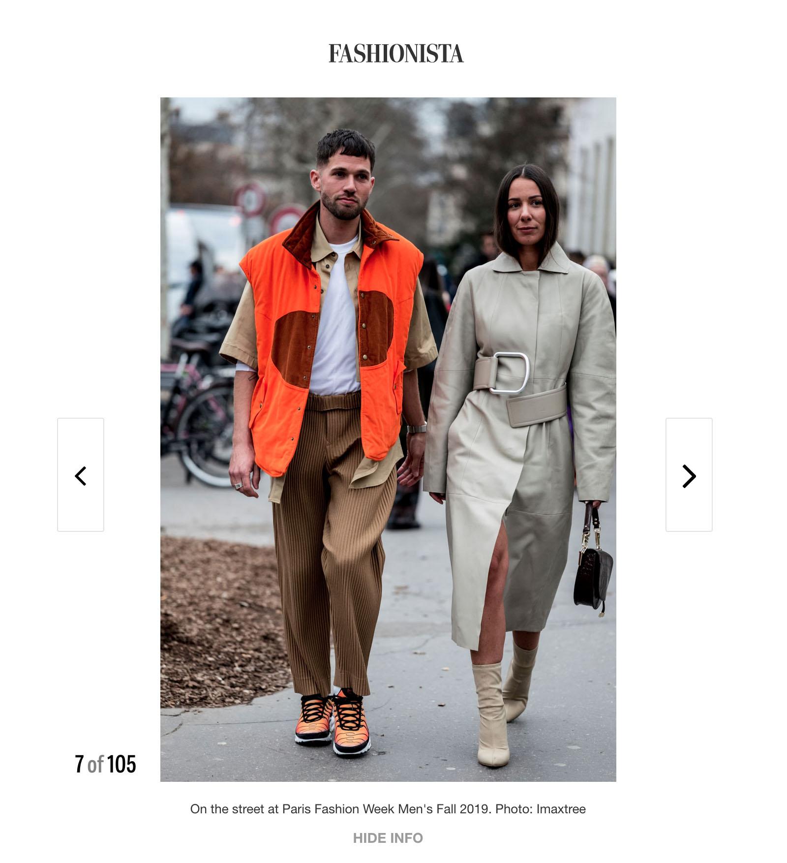 street style fashionista couple
