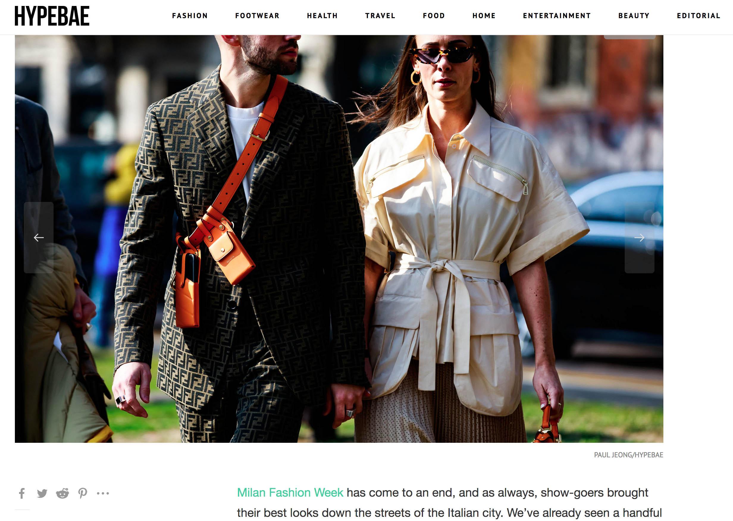 street style fendi couple fashion week