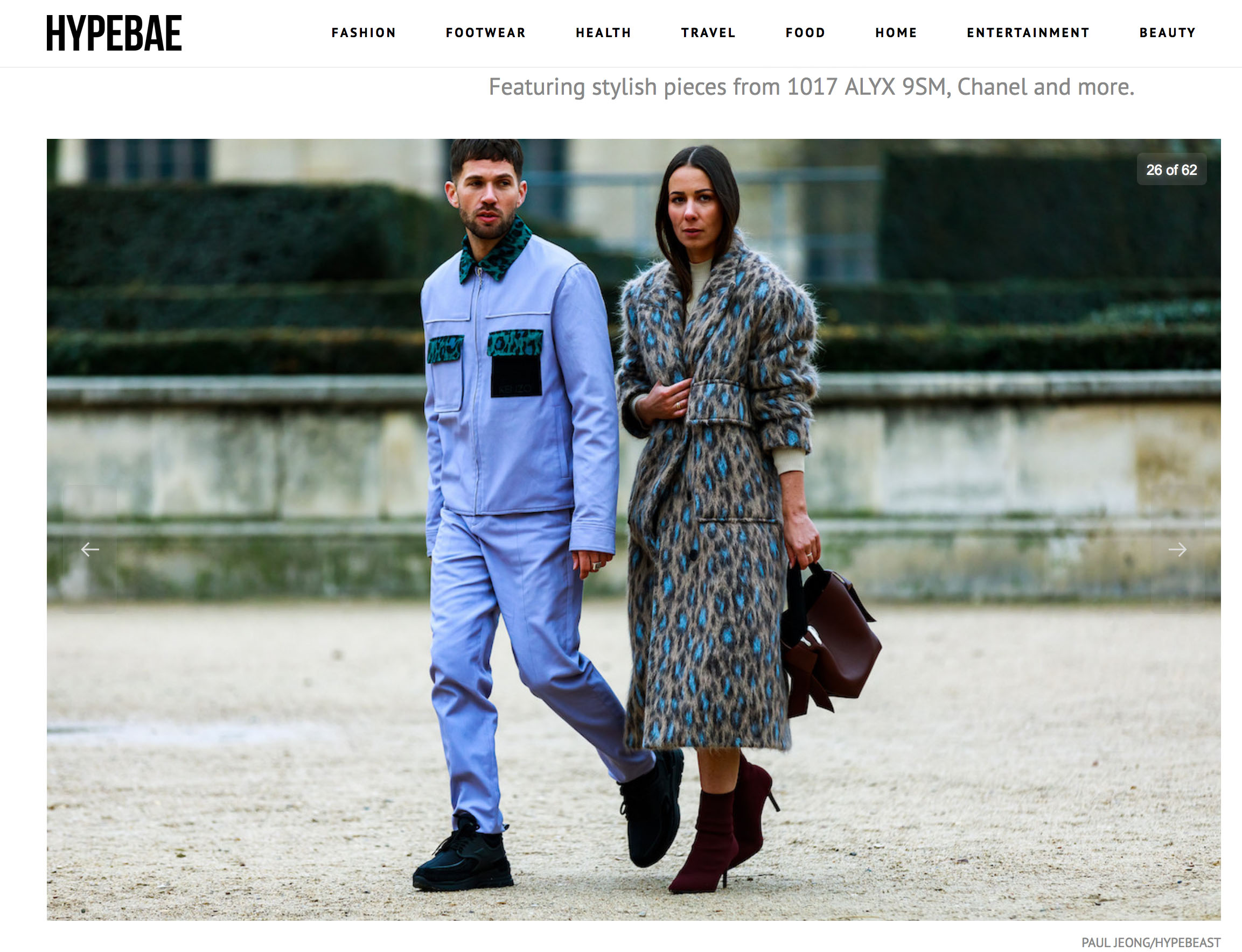streetstyle couple paris fashion week