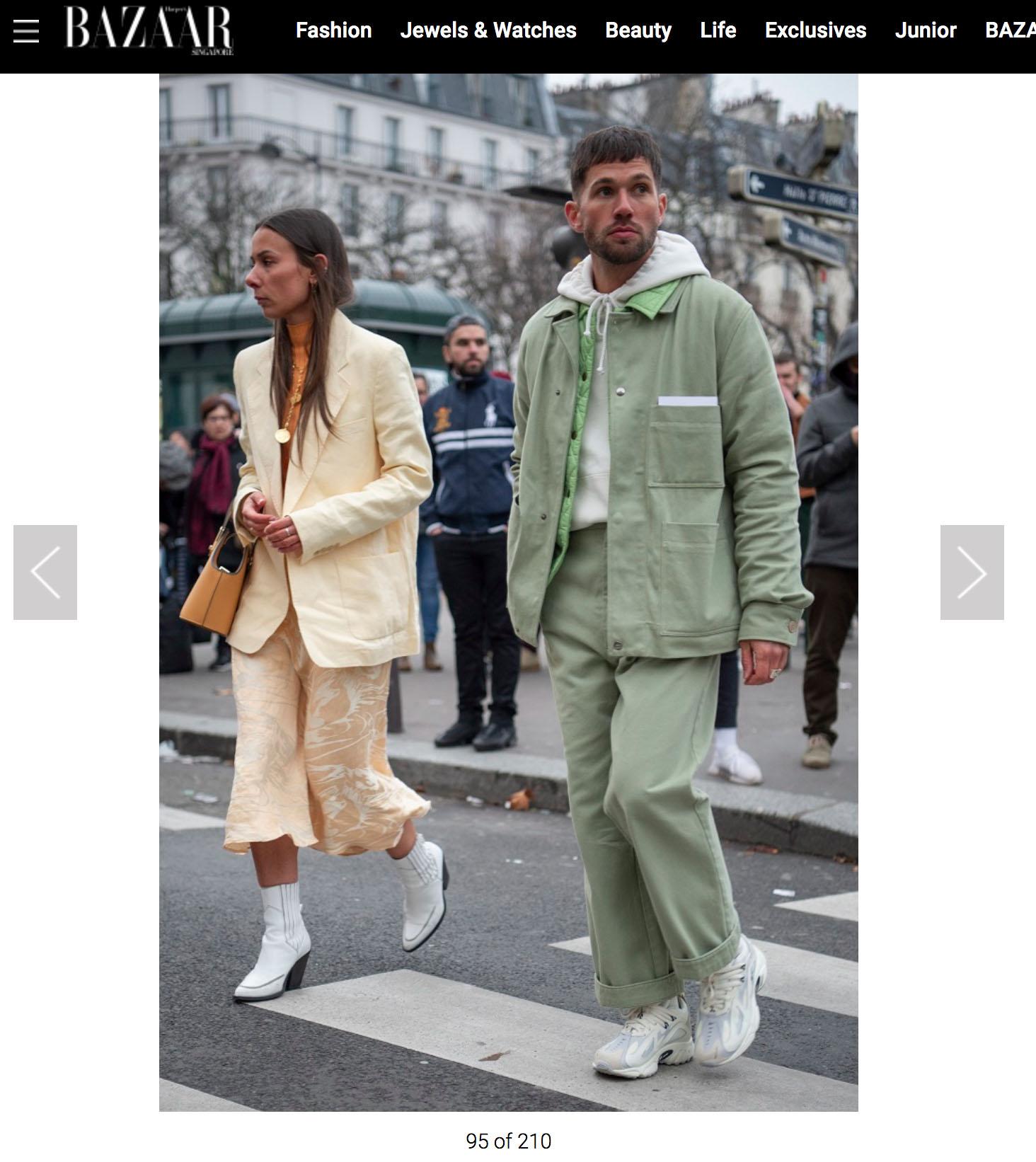 streetstyle harpers bazaar couple
