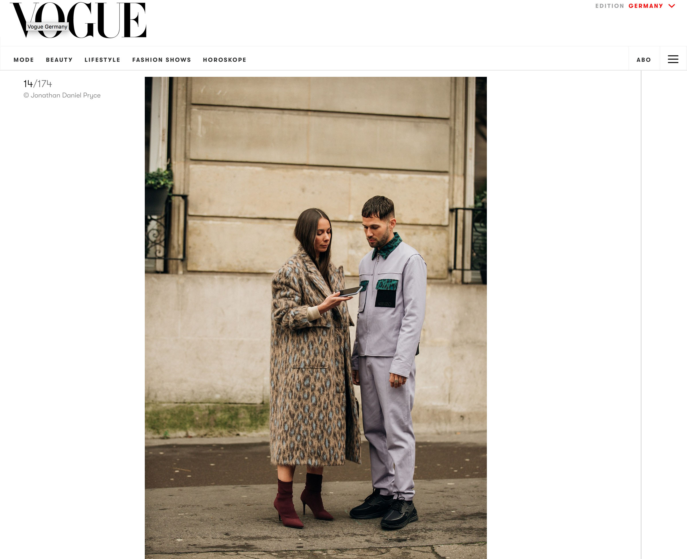 vogue deutsh fashion couple streetstyle