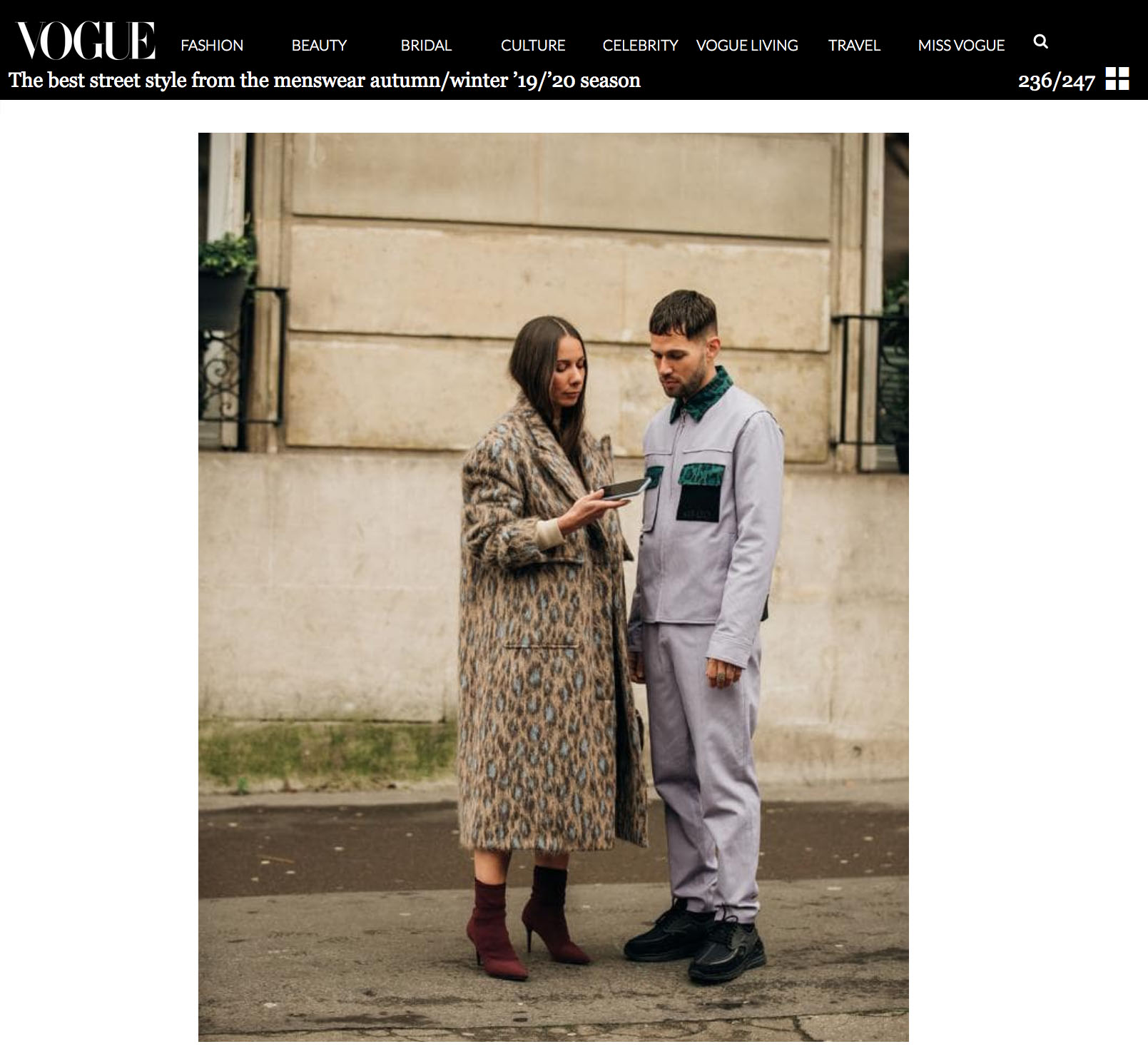 vogue fashion couple street style