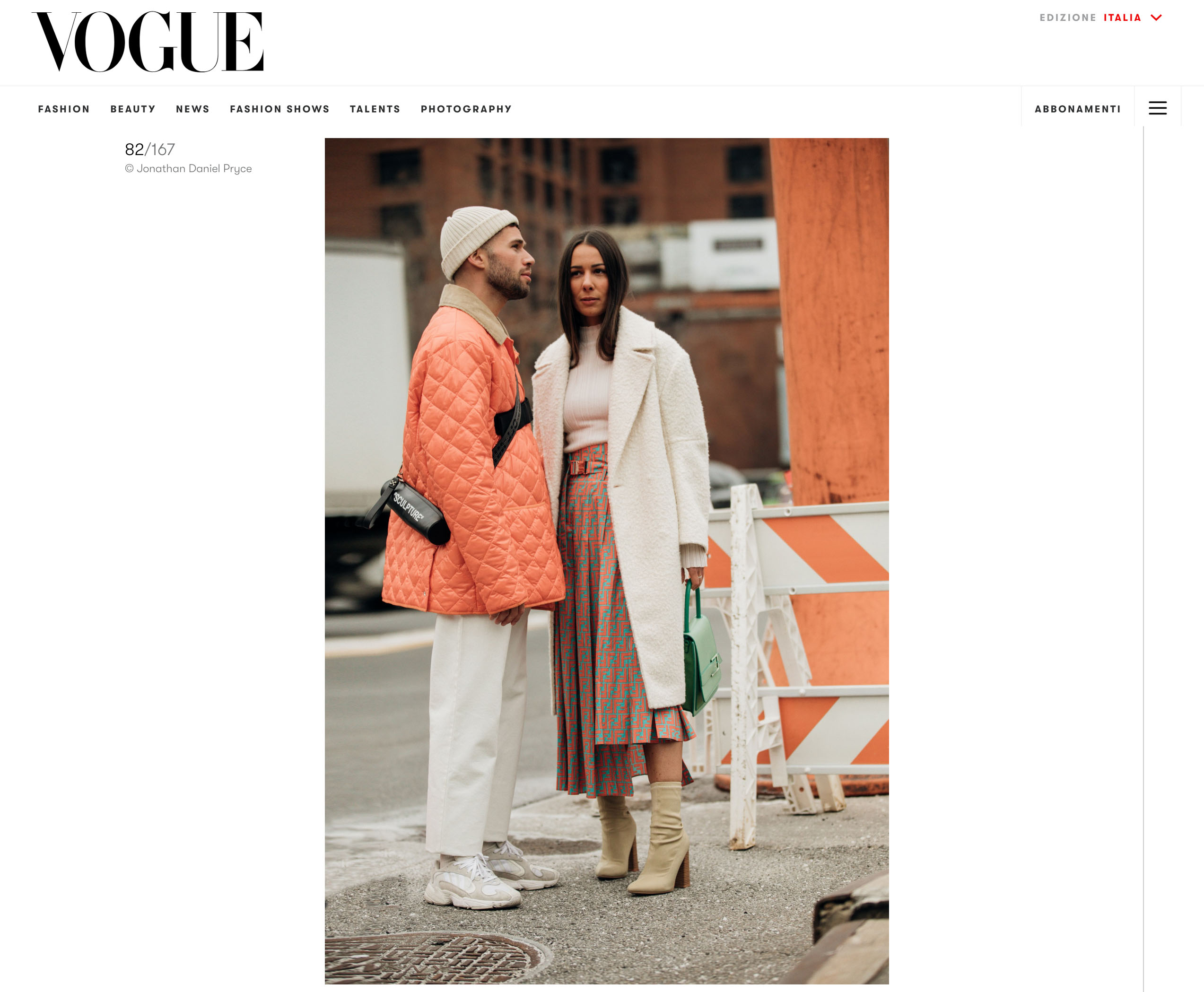 vogue italia street style fashion couple