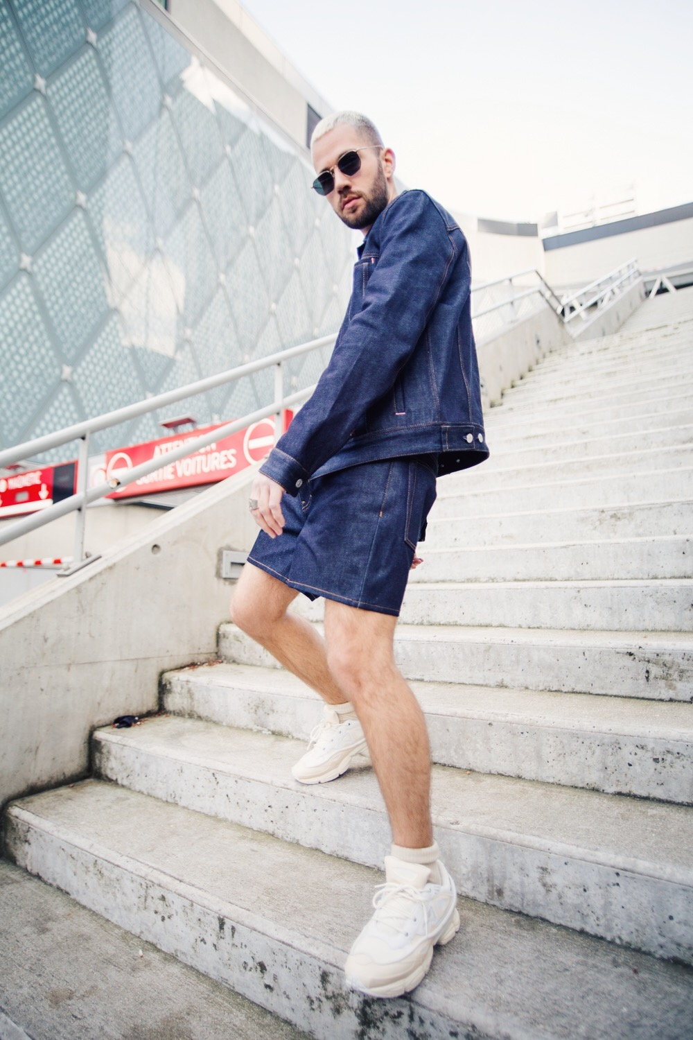 denim on denim short acne studios